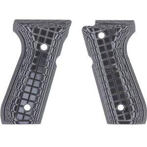 Pachmayr Dominator Beretta 92FS G10 Grips Coarse Checkered Gray/Black