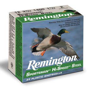"""Remington Sportsman 12 Ga 2.75"""" #2 Steel 1.125oz 250 rds"""