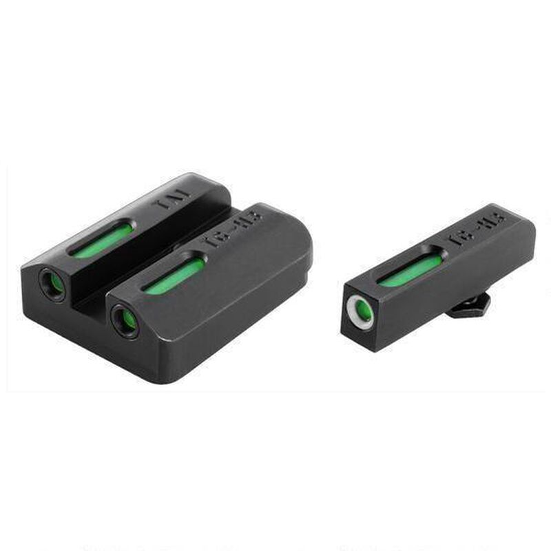 TRUGLO Tritium Pro Kahr Arms K/MK/P/PM/T/TP Night Sight Set Green Tritium 3-Dot Configuration Front White Focus Lock Ring Steel Black