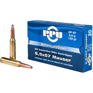 Prvi Partizan PPU Metric 6.5x57 Mauser Ammunition 20 Rounds 139 Grain SPBT 2591fps