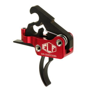 Elftmann Tactical AR-15 ELF Match Pro Trigger Curved Drop-In Adjustable Red/Black MATCH PRO-C