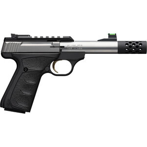 "Browning Buck Mark Micro Bull Stainless SR .22 LR Semi Auto Rimfire Pistol 4"" Threaded Barrel 10 Rounds Synthetic Grips Stainless/Black Finish"