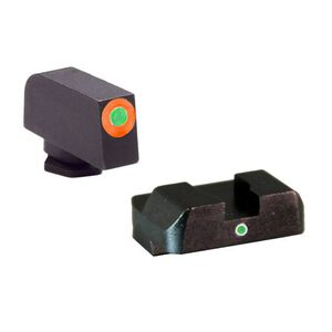Ameriglo Sight Set for GLOCK Green Tritium Front Dot with Orange Outline and Green Rear Single-Dot