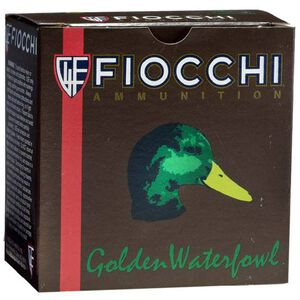 "Fiocchi Golden Waterfowl 12 Gauge Ammunition 25 Rounds 3"" BBB Shot 1-1/4oz Steel 1350fps"