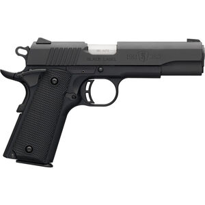 "Browning 1911-380 Black Label Full Size .380 ACP Semi Auto Pistol 4.25"" Barrel 8 Rounds Combat Sights Polymer Frame Matte Black Finish"