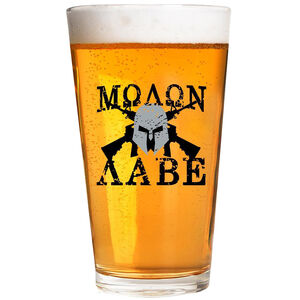2 Monkey Trading Lucky Shot USA Molon Labe Label 16 oz Pint Glass