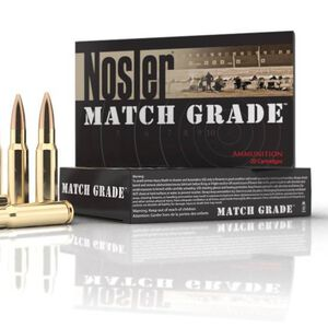 Nosler Match Grade .308 Win 175 Grain BTHP 20 Round Box