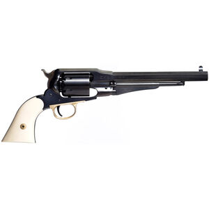 "Taylor's & Co The Sodbuster 1858 Remington .44 Caliber Black Powder Revolver 6 Rounds 8"" Octagonal Barrel Synthetic Ivory Grips Blued Finish"