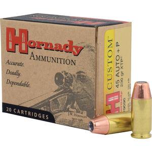 Hornady .45 ACP +P Ammunition 20 Rounds XTP JHP 230 Grains