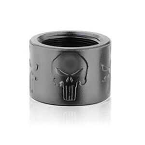 Backup Tactical 1/2x28 Thread Protector Aluminum Skull X Black