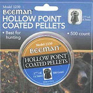 Beeman Hollow Point Coated Pellets .177 Caliber 500 Rounds 1230
