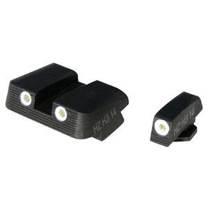HiViz NiteSite Low Profile Tritium 3-Dot Night Sight Set Green Tritium GLOCK 9/40/357 Steel Blued GLN125
