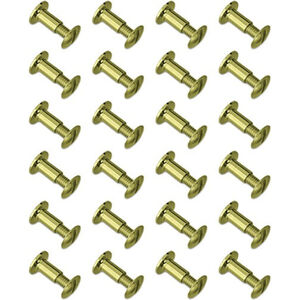 GroveTec Chicago Screws Brass 24 Count