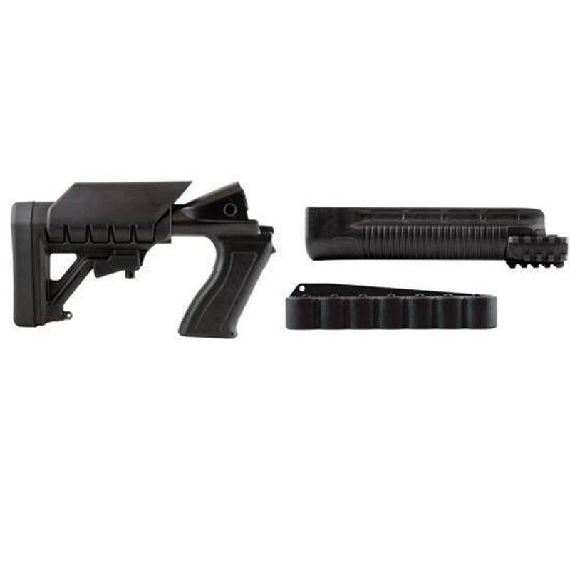Archangel 500SC Tactical Shotgun Stock System Mossberg 500/590 with Receiver Mount Shell Carrier Black Polymer
