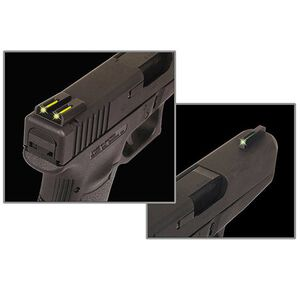 TRUGLO Springfield XD/XDM/XDS Brite Site TFO Sights Green Front/Yellow Rear CNC Machined Steel Black TG131XTY