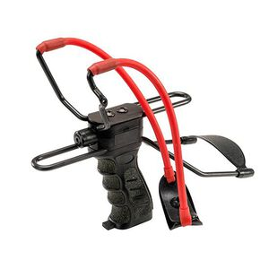 Umarex USA High Velocity Slingshot With Laser Black With Red Power Band