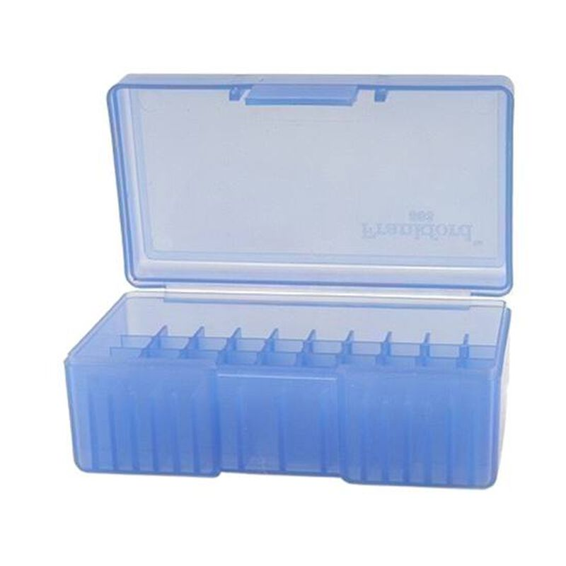 Frankford Arsenal #503 Ammo Box .38 Special/.357 Magnum 50 Rounds Plastic Blue 642557