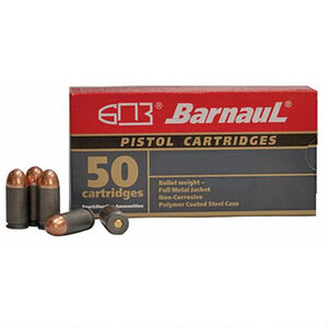 Barnaul Pistol Cartridges .380 ACP Ammunition 1000 Rounds 94 Grain Full Metal Jacket Polycoated Steel Cased Cartridges