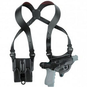 Aker Leather 107 FlatSider XR7 SIG Sauer P220 Shoulder Holster Right Hand Leather Plain Black