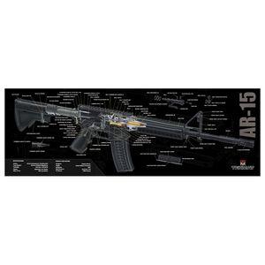 """TekMat Armorer's Bench Mat Neoprene/Cloth 12""""x36"""" AR-15 Cutaway 36-AR15-CA"""