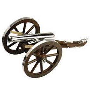 "Traditions NAPOLEON III Black Powder Cannon Kit .69 Cal 14.5"" Barrel Wooden Carriage 11.5"" Wheels Steel"