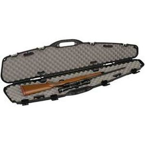 """Plano Pro-Max Single Scoped Rifle Case 53"""" Length PillarLock Crush Resistant Heavy Duty Latches Molded In Handle Thick Walled Construction Polymer Matte Black 151101"""