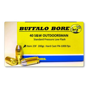 Buffalo Bore Outdoorsman .40 S&W Ammunition 20 Rounds Lead HCFN 200 Grains 23F/20