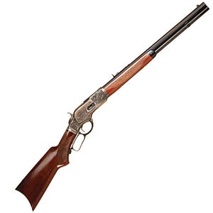 "Cimarron 1873 Deluxe Short Rifle Lever Action .44-40 20"" Barrel 10 Rounds Walnut Stock Blued Case Hardened Receiver"