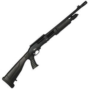 "Iver Johnson Pump Action Shotgun 20 Gauge 18"" Barrel 3"" Chamber 4 Rounds Pistol Grip Removable Buttstock Blued"