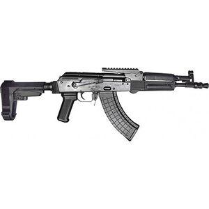 "Pioneer Arms Polish Hellpup 7.62x39mm AK-47 Semi Auto Pistol 11.73"" Barrel 30 Rounds with Optics Rail and Adjustable SBA3 Pistol Brace Polymer Furniture Black Finish"