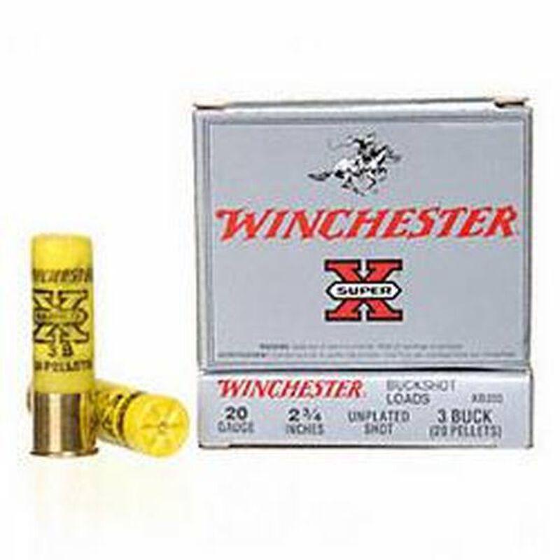 Winchester Super X Buck 20 Gauge 2.75 #3 Buck Five Rounds