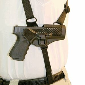 BLACKHAWK! CQC Serpa Shoulder Harness Platform, Size Large, Left Hand
