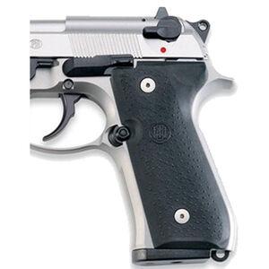 Beretta 92/M9/96 Full Size Handgun Thin Grips Rubber Black