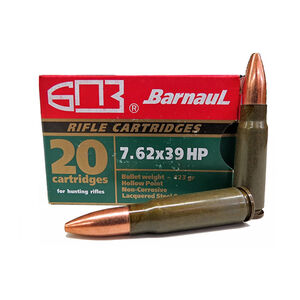 Brown Bear 7.62x39mm Ammunition 20 Rounds, HP, 123 Grain