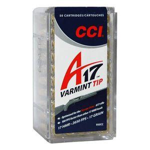 CCI .17 HMR Ammunition 50 Rounds A17 Varmint Tip 17 Grain 2650 fps