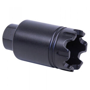 Guntec AR-15 Micro Trident Flash Can With Glass Breaker 5.56/.223 Caliber 1/2x28 TPI Aluminum Black