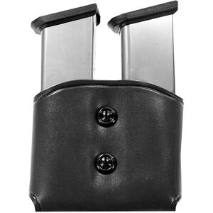 Galco DMC Double Mag Carrier .45 Single Stack Polymer and.45/10mm Staggered  Magazine Pouch, Black Leather