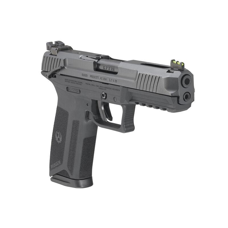"Ruger-57 5.7x28mm Semi Auto Pistol 4.94"" Barrel 20 Rounds Ambi Safety Fiber Optic SIght"