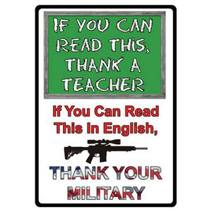 """River's Edge Products """"If You Can Read..."""" Sign Tin 11 by 16 Inches 1511"""