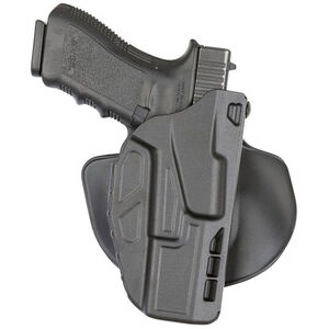 Safariland 7378 Paddle Holster Fits GLOCK 17/22 with Light Right Hand SafariSeven Plain Black