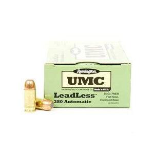 Remington .380 ACP UMC Ammunition 50 Rounds FNEB 95 Grains