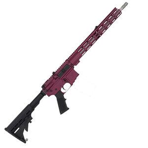"GLFA .223 Wylde Rifle .223 Wylde Semi-Auto Rifle 16"" Stainless Steel Barrel 30 Rounds Flat Top Optics Ready Synthetic Black Stock Black Cherry Finish"