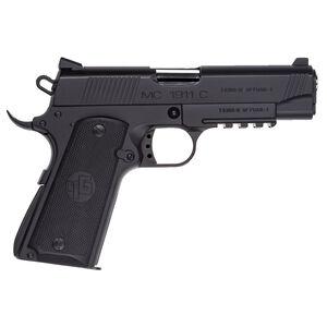 "EAA GiRSAN MC1911C Commander Model .45 ACP Semi Auto Pistol 4.4"" Barrel 8 Rounds Ambidextrous Safety Matte Black Finish"