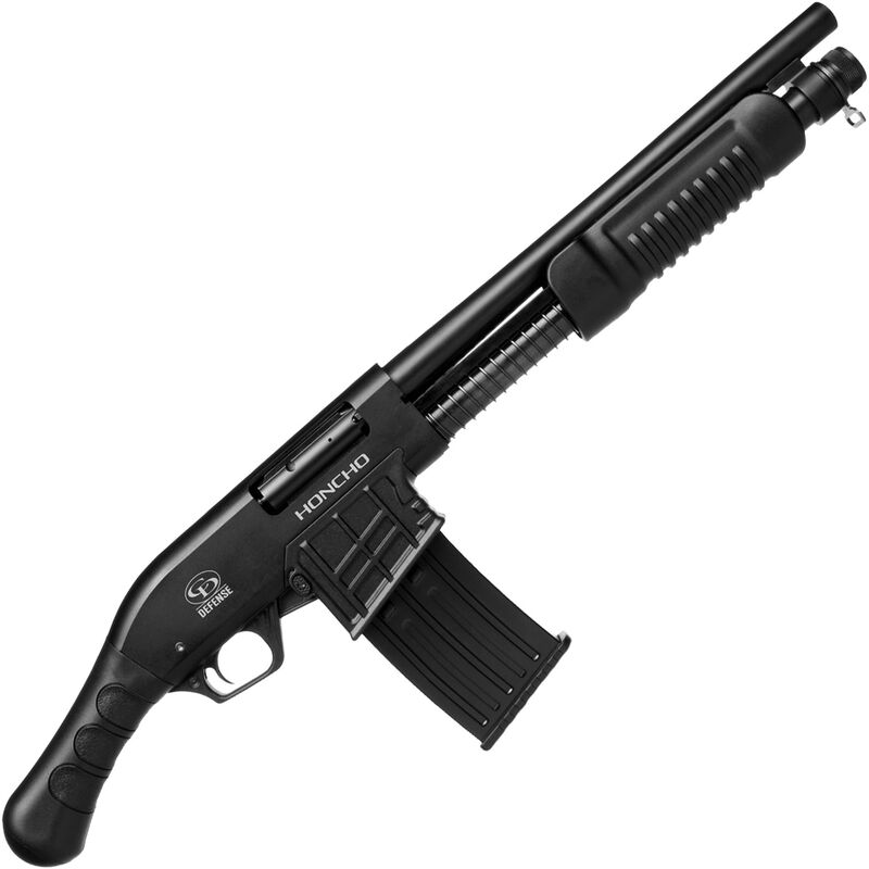 """Charles Daly Honcho Tactical 12 Gauge Pump Action Shotgun with Spring Assist 14"""" Barrel 3"""" Chamber 5 Round Detachable Box Mag Fixed Cylinder Bore Bird's Head Pistol Grip Black"""