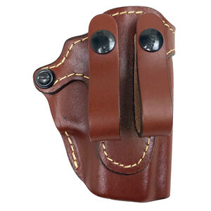 The Hunter Company 4700 Series Pro-Hide IWB Holster Fits GLOCK 43 Models Right Hand Draw Top Grain Leather Brown