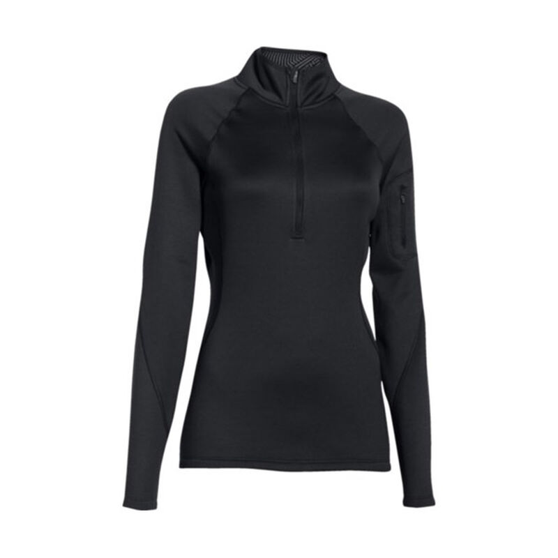 Under Armour ColdGear Infrared Polyester Long Sleeve 1/4 Zip Tactical Shirt Small Black 1271619