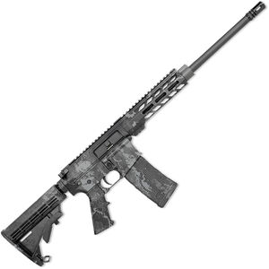 "Rock River LAR-15 RRAGE Tac-Black Carbine 5.56 NATO AR-15 Semi Auto Rifle 16"" Barrel 30 Rounds Free Float M-LOK Handguard Collapsible Stock Veil Tac-Black Camo Finish"