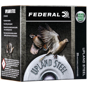 "Federal Upland Steel 28 Gauge Ammunition 2-3/4"" #7.5 Steel Shot 5/8 Ounce 1350 fps"