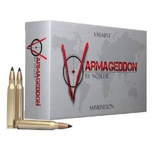 Nosler Varmageddon .221 Remington Fireball Ammunition 20 Rounds 40 Grain Tipped Flat Base 3100fps