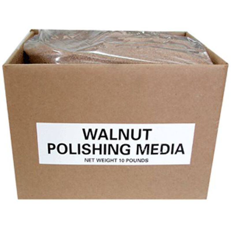Polishing Media Walnut Polishing Media 10 lb Box Brown